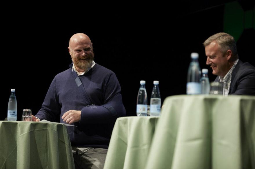 En veloplagt Mads Steffensen udfordrede erhvervspanelet med lokale dilemmaer