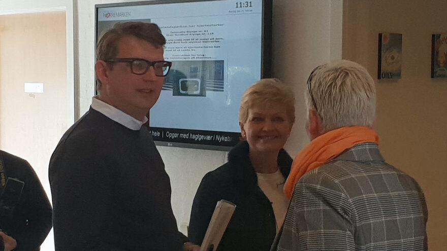 Ministre besøgte jobcenteret i Finlandsparken