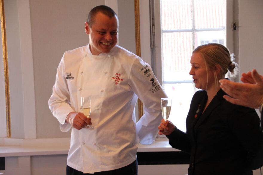 Michelin-par fejret på Vejle Rådhus