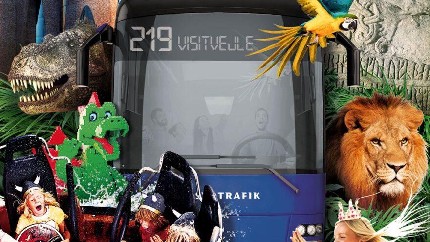 Nu kører Vejles shuttlebus igen gratis til områdets turistattraktioner