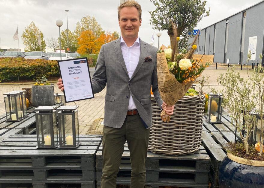 Vejle vinder titlen som Danmarks flotteste handelsby